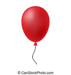 לבן, balloon, רקע אדום, הפרד