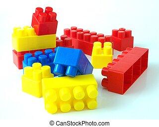 לבנות, צעצוע של פלסטיק, bricksplastic