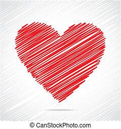 לב אדום, רשום, עצב