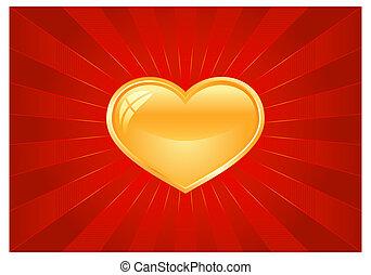 לב, התפרצות קלה, אדום, זהוב