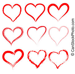 לב, ולנטיינים, ולנטיין, וקטור, לבבות, יום, אדום