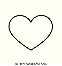 לב, וקטור, תאר, איקון, הפרד
