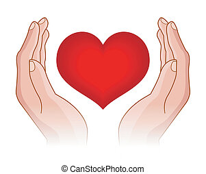 לב, ידיים