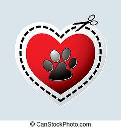 לב, כלב, טלף