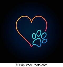 לב, כלב, תאר, איקון, טלף
