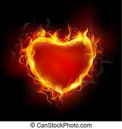 לב, להשרף