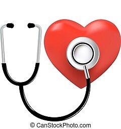 לב, סטטוסקופ