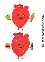 לב, עצוב, חולה, בקבוק, חולני