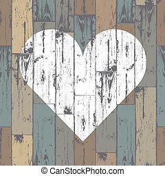 לב, eps10, מעץ, רקע., וקטור, לבן