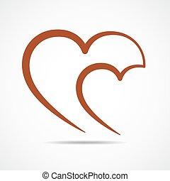 לב, icon., תאר