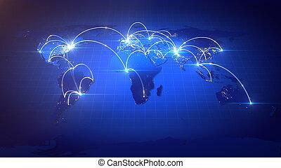 לגדול, network., עסק גלובלי