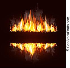 להבה, רקע, להשרף