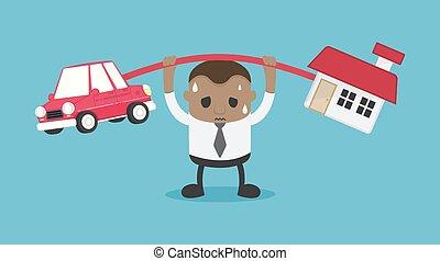 להביא, משאים, היא, אפריקני, חובות, מכונית, can't, פתור, בית, איש עסקים