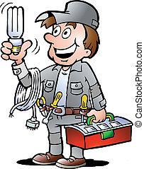 להחזיק, מתקן כל דבר, נורת חשמל