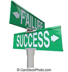 להחליט, טוב, הצלחה, להצביע, being, שתי דרך, גורל, חתום, symbolizing, רע, רחוב, ירוק, כישלון, בין, צומת, או, תוצאה