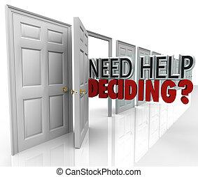 להחליט, עזור, הרבה, בררות, דלות, הצטרך, מילים