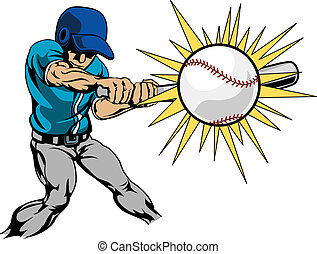 להכות, שחקן, בייסבול, דוגמה