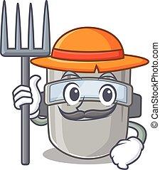 להלחים, כובע, עצב, קמיע, לעבוד, ללבוש מסכה, חקלאי