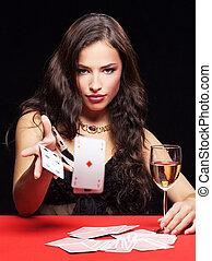 להמר, אישה, שולחן אדום