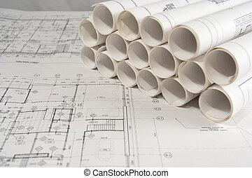 להנדס, ציורים, אדריכלי