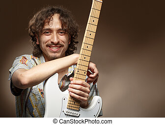 להניח, מוסיקאי, guitar., אולפן, צעיר