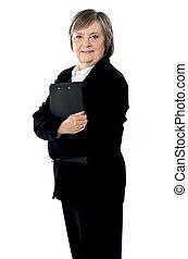 להניח, מסמכים, גברת, של איגוד מקצועי