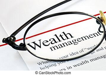 להשקיע, ניהול של כסף, עושר, התמקד