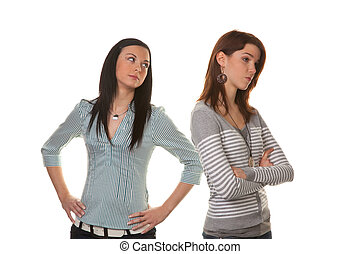 להתווכח, פגע, כועס, כאשר, נשים