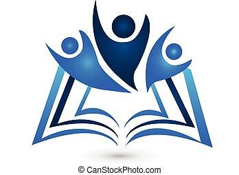לוגו, הזמן, חינוך, שיתוף פעולה
