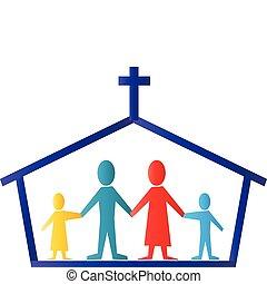 לוגו, וקטור, משפחה, כנסייה