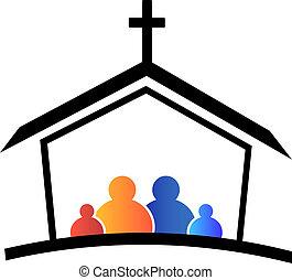 לוגו, כנסייה, משפחה, אמונה