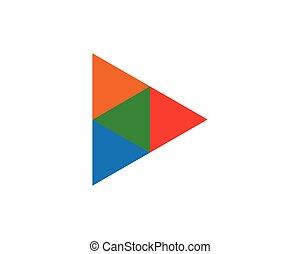לוגו, משולש, דפוסית