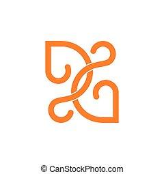 לוגו, ענוב, קו, חבר, עצב, קשות, תקציר