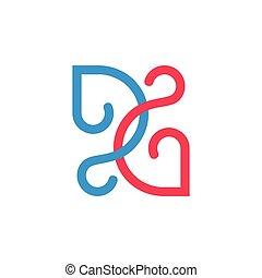 לוגו, עצב, קו, חבר, ענוב, תקציר, קשות