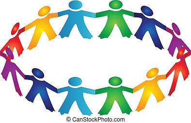 לוגו, שיתוף פעולה, אנשים