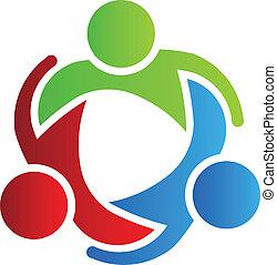 לוגו, 3, עצב, שותפים של עסק