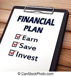 לוח גזירים, תוכנית כספית