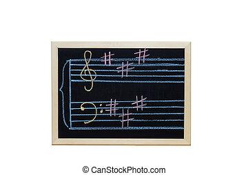 לוח, כתוב, מוסיקה, הקלד, צוות