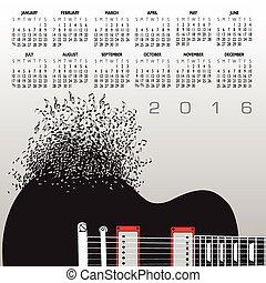 לוח שנה, 2016, מוסיקה