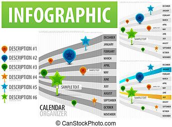 לוח שנה, infographics