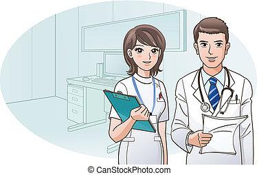 לחייך, בטוח, רופא, אמון