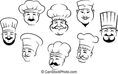לחייך, קבע, ראשים, טבחים