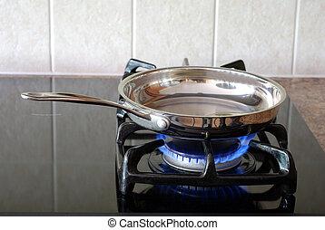 לטגן, תנור, גז, מחבת