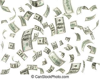 לטוס, דולר, רקע, 100, חשבונות, לבן