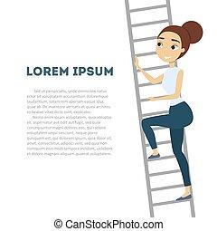 לטפס, אישה, high.