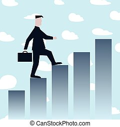 לטפס במדרגות, הצלחה, איש