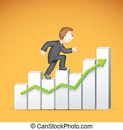 לטפס, bargraph, איש של עסק