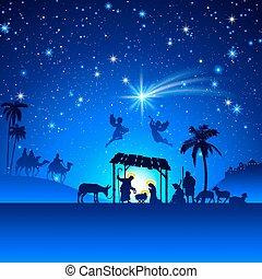 לידה, וקטור, קטע של חג ההמולד