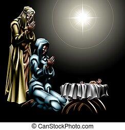 לידה, נוצרי, קטע של חג ההמולד