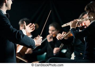 לכוון, תזמורת של סימפוניה, מוביל